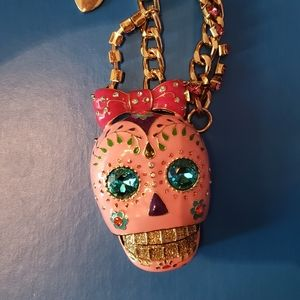 Betsey Johnson sugar skull necklace